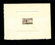 France 1960  Ships Communications Scott B339 Signed Sunken Die Artist Proof