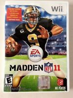 Nintendo Wii/Wii-U MADDEN NFL 11 Video Game Professional Football Players 2011