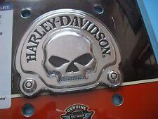 HARLEY  OEM Willie G Skull CHROME MEDALLION BADGE Sissy Bar Tour Pack Bat