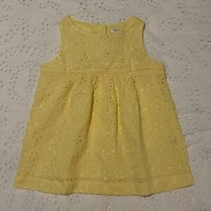 NWT Size 7 8 M Gymboree Yellow Eyelet Spring Summer Easter Dressy top Girls