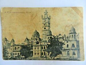 VINTAGE POSTCARD H.H. THE GAIKWAR'S PALACE BARODA RULER HISTORY ARCHITECTURAL