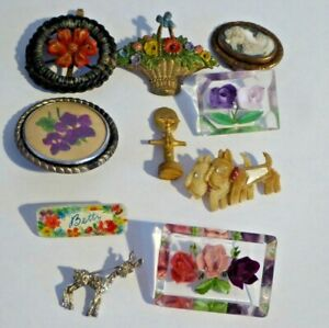 Costume Jewellery - Lucite / Scottie Dogs Brooches / 1925 Gold Coast Wembley