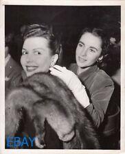 Ann Miller Elizabeth Taylor candid 1948 VINTAGE Photo