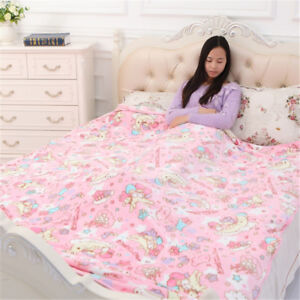 My Melody Little Twin Stars Flannel Blanket Rug Throw Bedding Sheet Pillow Case