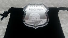 1oz Fine Silver Route 66 In Hwy Sign 4th Series (Oklahoma) Capsule,Velvet Pouch