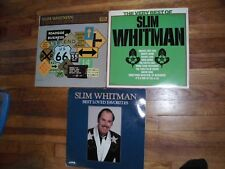 Slim Whitman LP Lot of 3 A Travelin' Man The Very Best Of & Loved Favorites DBL