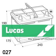 027 lucas premium heavy duty 3 year warranty car battery