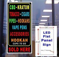 Free WiFi Internet Led Illuminated Window Sign 48x12