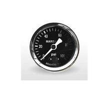 "Marshall Gauge 0-100 Psi Fuel / Oil Pressure Gauge Black 1.5"" Diameter 1/8"" NPT"