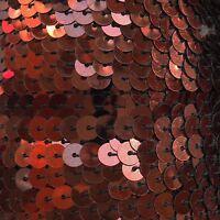 "Bronze Metallic Sequin Trim 6mm 1/4"" wide stitched, strung by the yard 15'"