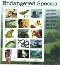US 32c Endangered Species, Animal, Butterfly, Bird, Full Sheet of 15 Stamps, MNH