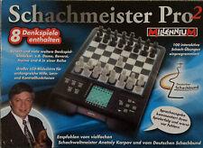 Schachcomputer Schachmeister Pro²+8 Denkspiele***NEU&OVP***