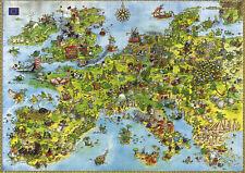 Heye 8854 Dreieckspuzzle Marino Degano United Dragons Of Europe 4000 teile