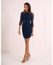 Forever Unique Women's Tess Bodycon Dress With Classic Lace Panel - Navy