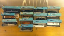 Vintage lot of 13 Athearn Blue Box HO Scale  locomotives cars.tankers caboose