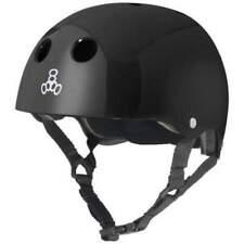 Triple 8 Skate Helmet (L) Black Gloss Board Roller Scooter Inline