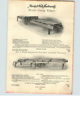 1900s PAPER AD Timber Lumber Yard Dixie Gang Edger Two Saw Trimmer