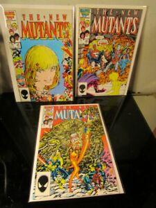 New Mutants #45-46-47 MARVEL COMICS BAGGED BOARDED~