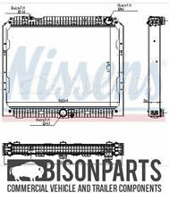 """FITS MERCEDES ACTROS, ANTOS & AROCS COOLANT RADIATOR ASSEMBLY NIS627003"