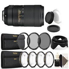 Nikon AF-P DX NIKKOR 70-300mm f/4.5-6.3G ED VR Lens w/ Ultimate Accessory Bundle