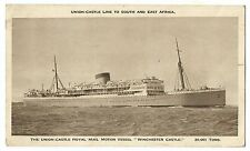 "Union Castle Royal Mail Motor Vessel ""Winchester Castle"" PPC, Unposted Sepia"