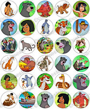 30 x The Jungle Book Fun Party Edible Rice Wafer Paper Cupcake Toppers