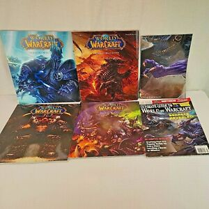 World of Warcraft Official Magazine Lot Vol 1 Issue 1 2 3 4  also Ultimate Guide