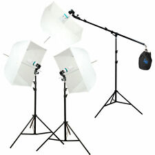 Photography Studio Photo Equipment White Softbox Umbrella Boom Stand Light Kit