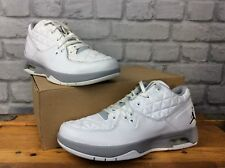 NIKE UK 6 EU 40 AIR JORDAN CLUTCH WHITE BLACK GREY LOW TRAINERS