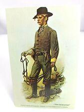 Vintage Postcard The Cavalryman Civil War Water Color Paintings