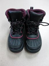 Nike Woodside Girls Boots Black/Fireberry Pink US1Yr Used FREE SHIPPING Backroom
