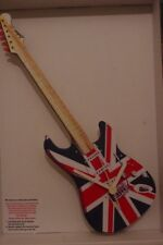 Union Jack  Electric Guitar novelty wooden wall clock British made  Lark Rise