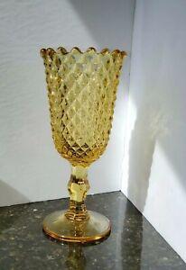 Vintage Tall Gold Indiana Glass Goblet Vase