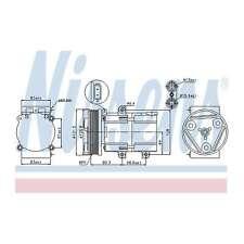 Nissens 89068 AC Compresseur fit for D MONDEO 93-00