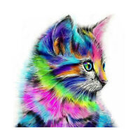 5D Diamond Painting Embroidery Cross Craft Stitch Art Kit Cat Animal Home Gift