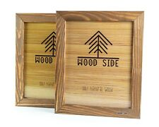 Rustic Wooden Picture Frame 8x10 - Made To Display Pictures 8x10 - Set of 2