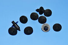 OPEL ASTRA BLACK PLASTIC RIVET TYPE BODY TRIM PANEL FASTENER CLIPS 10PCS