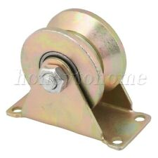 Steel Bearing 45# Steel V Groove Rigid Wheel Industrial Guide Pulley