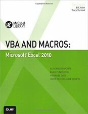 VBA and Macros: Microsoft Excel 2010 (MrExcel Lib... by Syrstad, Tracy Paperback