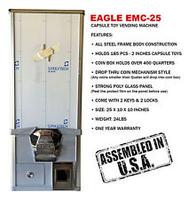 Eagle Cabinet 25 Inches 50¢ Capsule Toy Vending Machine (New ONE YEAR WARRANTY)