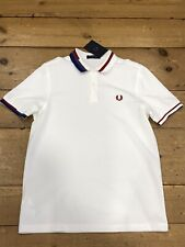 Fred Perry Abstract Collar Pique Snow White M7604 - Medium