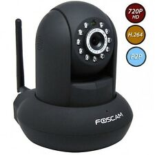 IP CAMERA DA INTERIOR Foscam FI9821P Video internal black 720P HD P2P LIGHT