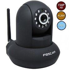 IP CAMERA DA INTERNI Foscam FI9821P Telecamera IP interno nera 720P HD P2P SPIA