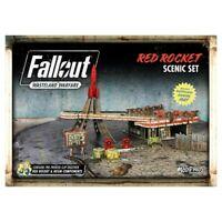 Fallout Wasteland Warfare Miniatures Red Rocket Scenic Set Brand New