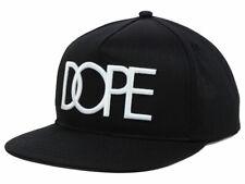 DOPE CLASSIC LOGO BLACK WHITE SNAPBACK Cap Hat Black Adjustable *SHIPS IN BOX!*