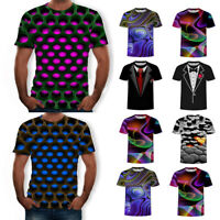 Funny 3D T-Shirt Men Women Summer Colorful Print Casual Short Sleeve Tee Tops