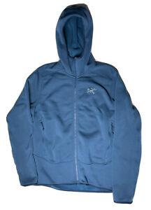 ARC'TERYX KYANITE JACKET POLARTEC POWER Fleece STRETCH PRO Blue Hoodie Sz Small