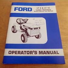 Ford LT8 LT12 Lawn Tractor Operator's Manual Garden LT