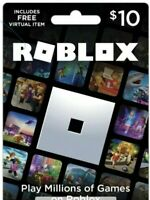$10 roblox gift card Physical Card Roblox Giftcard