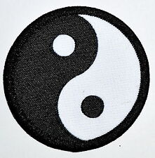 Patch Yin Yang Black /& Pink Symbol Opposites Tao Embroidered Sew Iron On 51100